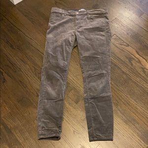Loft Gray Cords Corduroy Pants 4 27 Modern Skinny